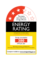 Energy star rating label