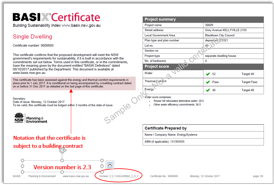 example certificate2 preJuly